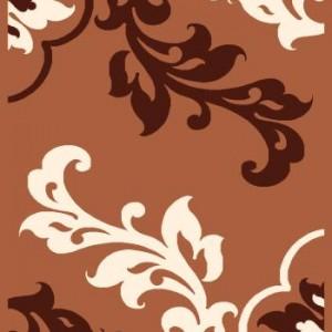 فرش فانتزی طرح گلبرگ قهوه ای