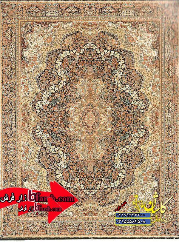 قیمت فرش کاشان 700 شانه طرح گلستان سرمه ای