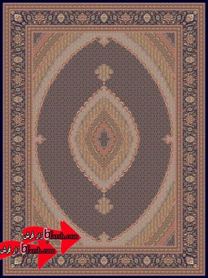 فرش زمرد مشهد طرح14016 سرمه ای