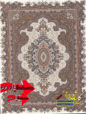 قیمت فرش کاشان 700 شانه طرح کشمیر کرم