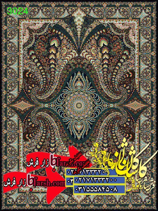 قیمت فرش کاشان 1000 شانه طرح 3024
