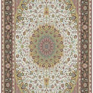 فرش 1200 شانه کاشان طرح اصفهان کرم