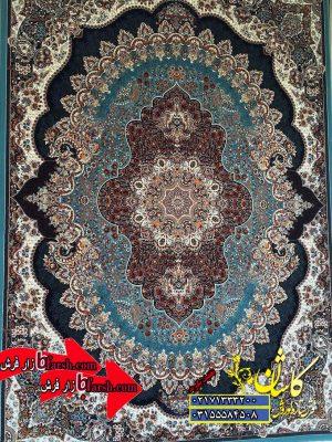 قیمت فرش کاشان 700 شانه طرح ارکیده ابی