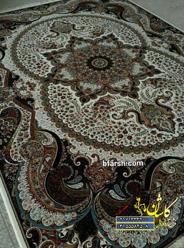 فرش700 شانه 10 رنگ نقشه چیچک کرم | قیمت فرش طرح چیچک کرم | فرش کوروش