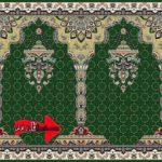 فرش سجاده ای سبز رنگ کد 24001