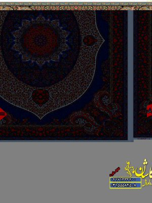قیمت فرش کاشان 1000 شانه طرح ویشگا کرم