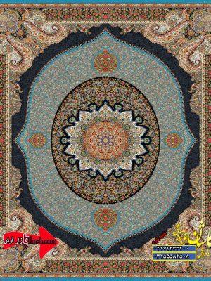 قیمت فرش کاشان 1000 شانه طرح ویشگا ابی