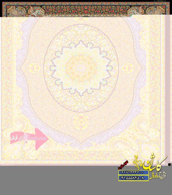 قیمت فرش کاشان 1000 شانه طرح ویشگا سرمه ای
