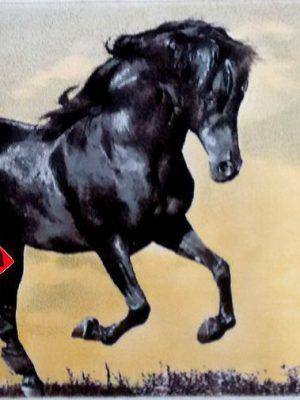 تابلو فرش ماشینی طرح اسب