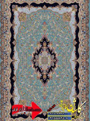 قیمت فرش کاشان 1000 شانه طرح مستان ابی