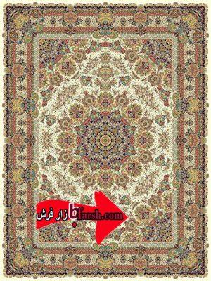فرش نگین مشهد1200 شانه کد 1204 کرم