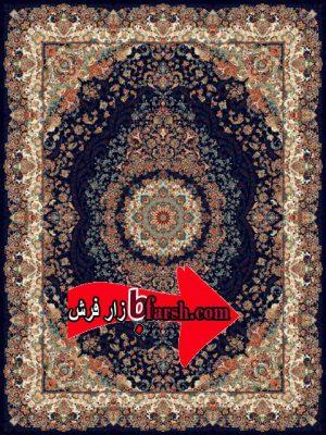 فرش نگین مشهد1200 شانه کد 1206 سرمه ای