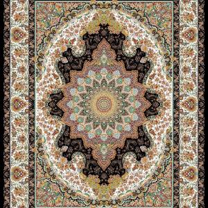فرش ساوین طرح المیرا قهوه ای