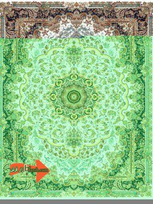 1050 شانه کاخ طرح 10047 کرم   بازار فرش