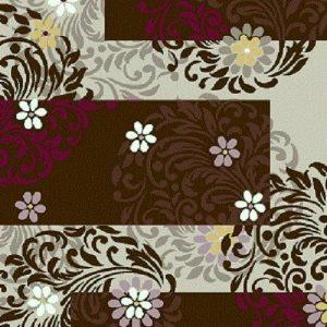فرش فانتزی و اسپرت مدل افاق شکلاتی | بازار فرش فرش فانتزی | فرش اسپرت