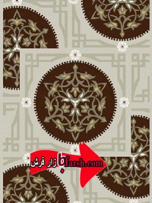 فرش فانتزی و اسپرت مدل اویشن شکلاتی