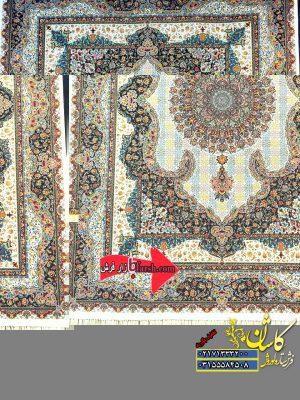 قیمت فرش ۱۲۰۰ شانه کاشان طرح سالار کرم