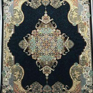 فرش 1000 شانه مدل ایلیا سرمه ای | بازار فرش کاشان