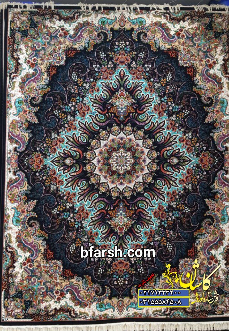 فرش کاشان طرح ملورین | قیمت فرش نقشه ملورین کاشان | بازار فرش کاشان