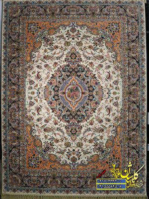 قیمت فرش کاشان ۱۲۰۰ شانه طرح هشت پرنده