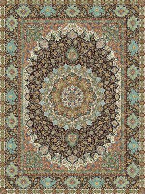 فرش ساوین 1200 شانه طرح عطارد | قیمت فرش 1200 شانه ساوین مدل عطارد| بازار فرش ساوین