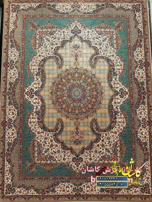 قیمت فرش ۱۲۰۰ شانه کاشان طرح سالار گردویی