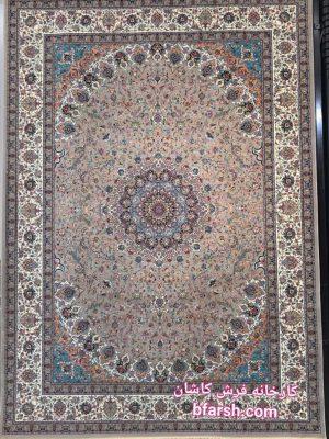 قیمت فرش ۱۲۰۰ شانه کاشان طرح نایین بادامی
