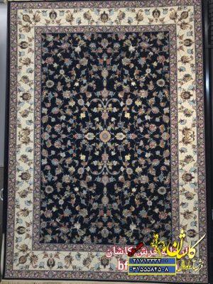 قیمت فرش ۱۲۰۰ شانه کاشان طرح گل برجسته افشان