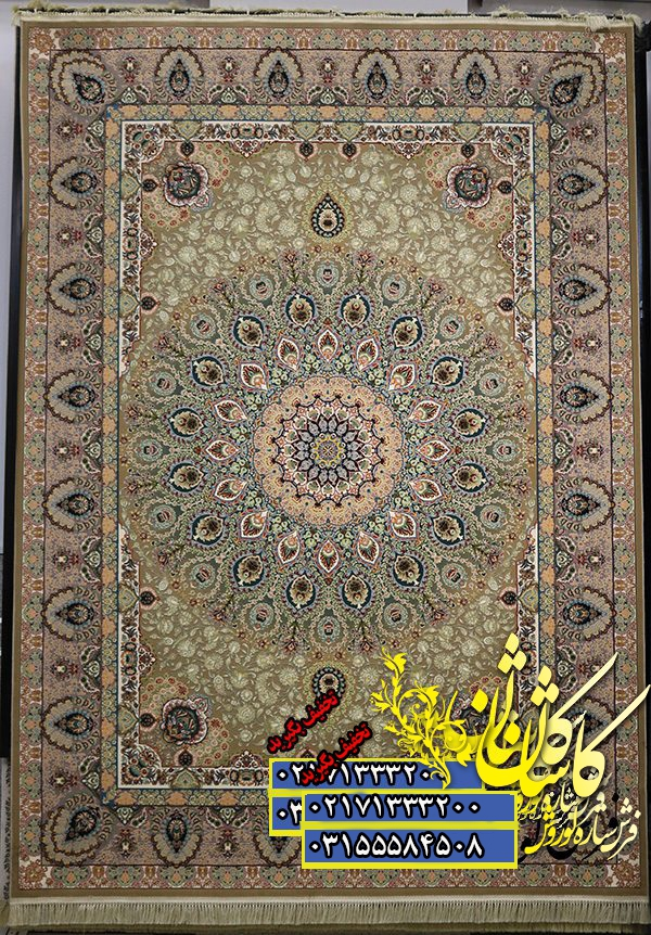 قیمت فرش کاشان 1000 شانه گل برجسته طرح طاووس