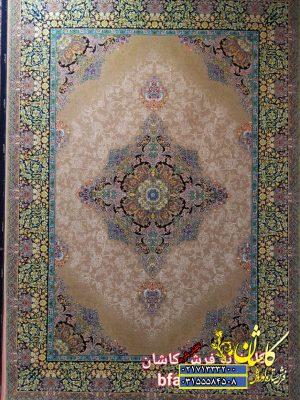 قیمت فرش کاشان 700 شانه طرح تابان نسکافه ای
