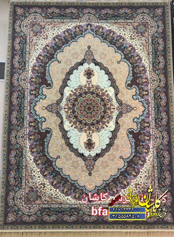 قیمت فرش کاشان ۱۲۰۰ شانه طرح اساطیر بژ