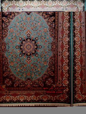 فرش زمرد مشهد 1200 شانه کد 36006 ابی