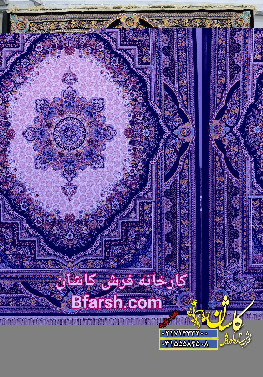 فرش کاشان 1200 شانه طرح بهشت