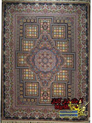 قیمت فرش کاشان 700 شانه طرح درخشان نسکافه ای