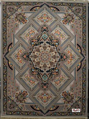 قیمت فرش کاشان ۱۲۰۰ شانه نقشه گل آرا ترمه ای