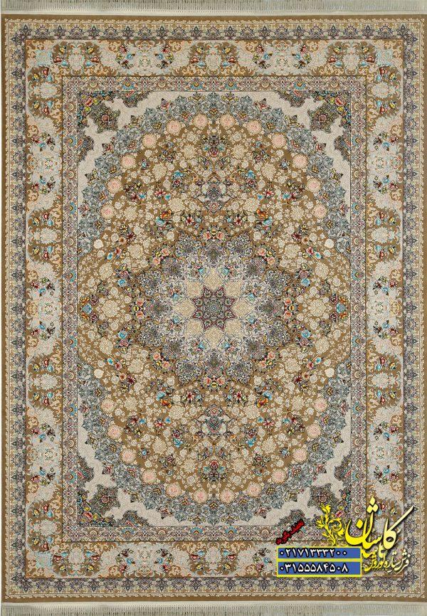 قیمت فرش ساری گل رنگ بژ