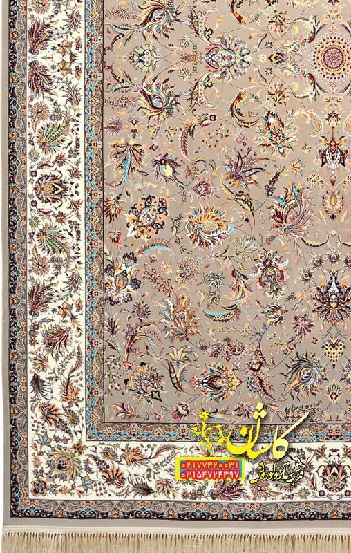 فرش کاشان نقشه گل افشان 1200 شانه
