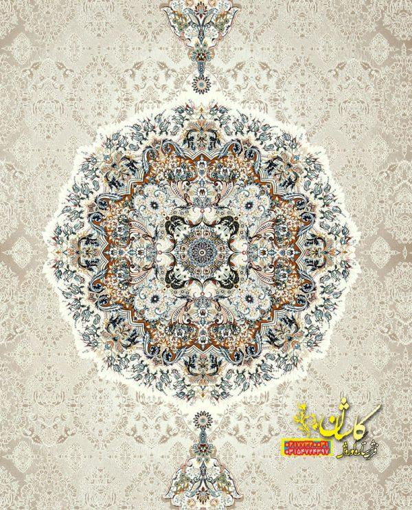 فرش نقش هالیدی رنگ بژ