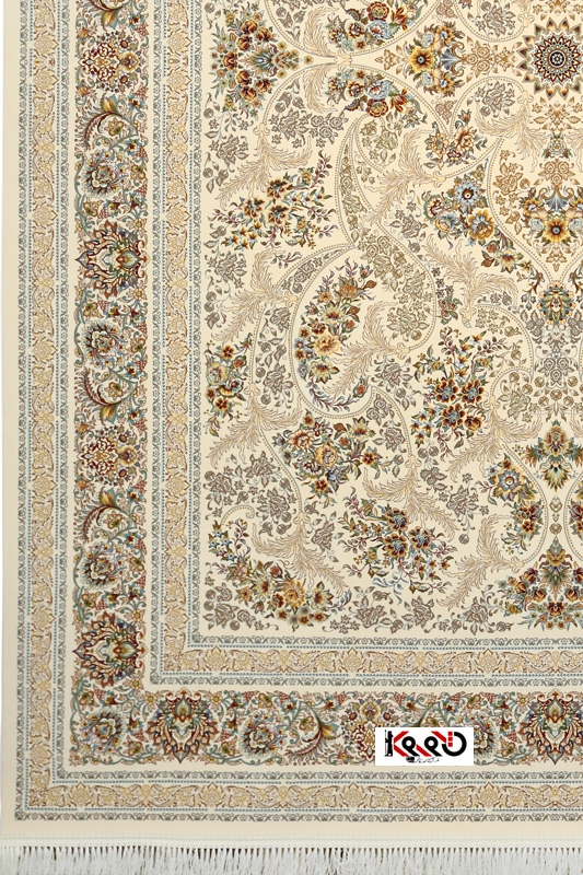 فرش مدل هانا با تراکم 3600 رنگ کرم