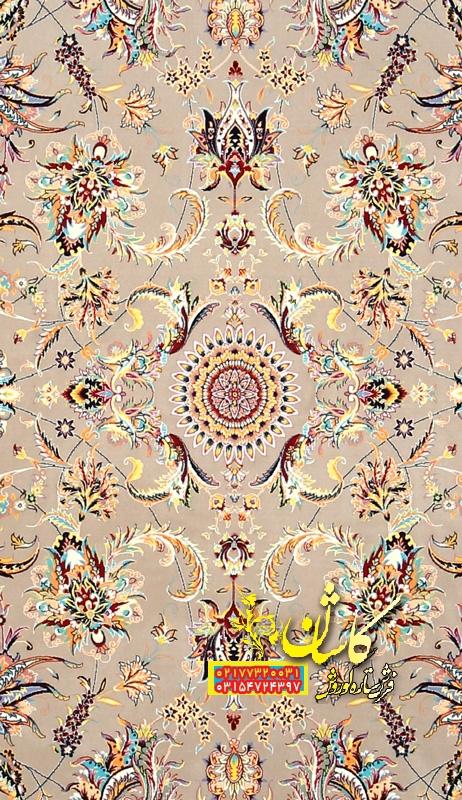 فرش 1200 شانه ترمه ای مدل گل افشان