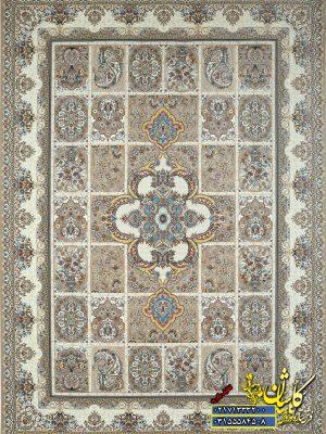 فرش نقش شاهسوند رنگ بژ